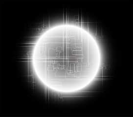 Abstract black background global communications