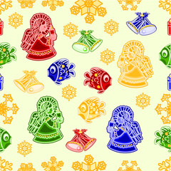 Seamless texture vector christmas decorations vector