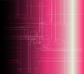 Abstract pink background technical vector