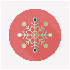 Snowflake flat icon with long shadow,eps10