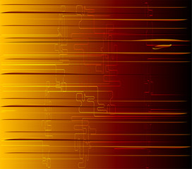 Abstract technology strips orange background