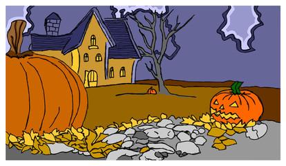 halloween casa e zucche