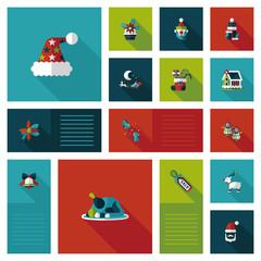 Merry Christmas flat app ui background,eps10