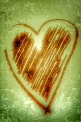 vintage heart background....