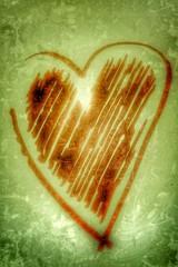 vintage heart background....