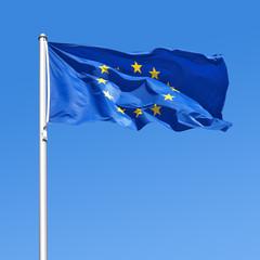 Wehende Flagge der Europäischen Union