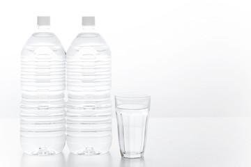 ペットボトル 水 ミネラルウォーター グラス