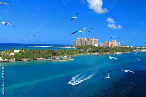 foto auf acrylglas the atlantis paradise island resort located in the bahamas nikkel. Black Bedroom Furniture Sets. Home Design Ideas