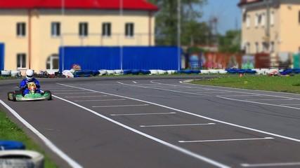 racing Go-kart front view