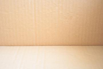 bottom of a corrugated carton