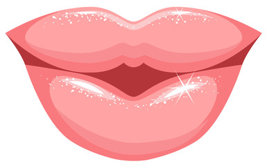 Human female lips
