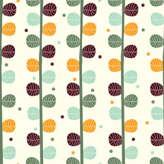 Cute seamless pattern with leaves.