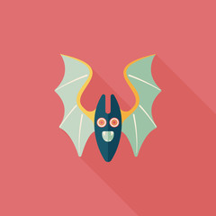Bat flat icon with long shadow,eps10