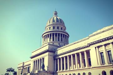Havana - Capitolio. Cross processed retro color.