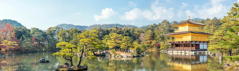 Panorama Kinkakuji Temple Kyoto