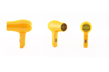 hair dryer orange yellow