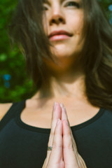 Hands in Namaste prayer mudra