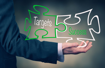 Targets & Success concept