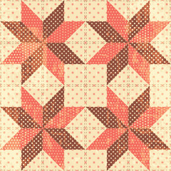 Patchwork stars background