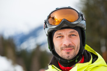 Portrait of male skier