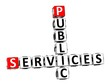 3D Crossword Public Services on white background
