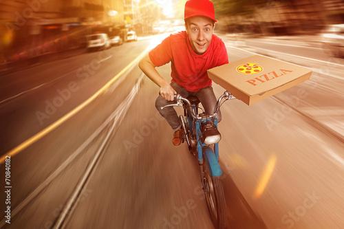 Leinwanddruck Bild Pizza Guy