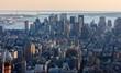 Obrazy na płótnie, fototapety, zdjęcia, fotoobrazy drukowane : Aerial view of Downtown Manhattan, NYC.
