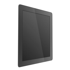 Black tablet with a glossy screen