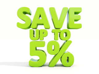 Save up to 5%