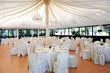 Leinwanddruck Bild - Wedding venue under a marquee