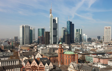 Frankfurt, Altstadt und Skyline