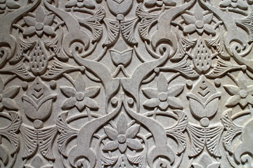 Relief of wall, Monserrate palace in Sintra
