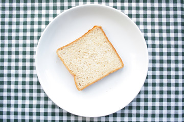 Toast in a plate
