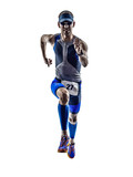 man triathlon iron man athlete runners running