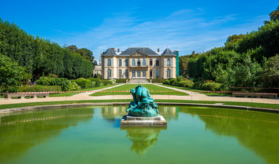 Famous Rodin museum and gardens in Paris,France