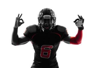 american football player  okay gesture silhouette