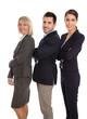 Erfolgreiches professionelles Business Team isoliert