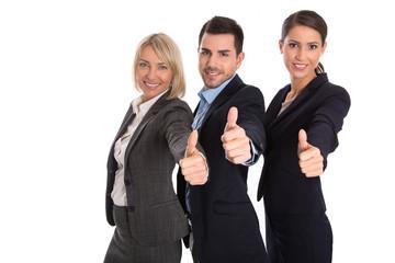 Erfolgreiches Business Team: Konzept Frauenquote