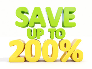 Save up to 200%
