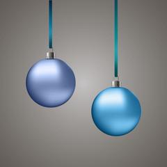 Голубые новогодние шары/Blue christmas balls