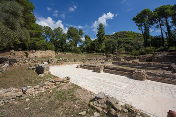 Ausgrabungsstätte Olympia Mosaikboden