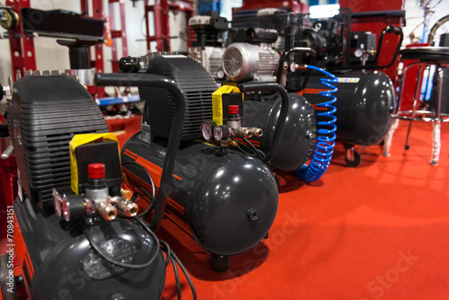 Leinwanddruck Bild Air compressor pressure pumps