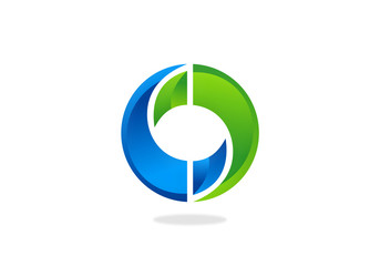 circle infinity technology vector logo
