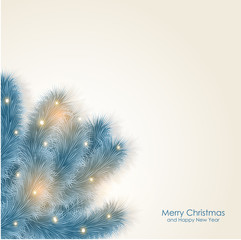 Merry X-mas and Happy New Year postcard