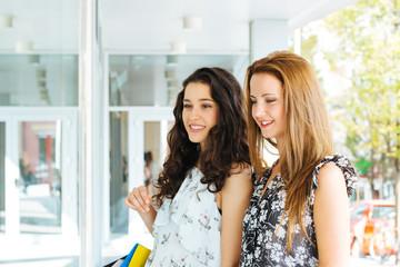 Beautiful shopping girls