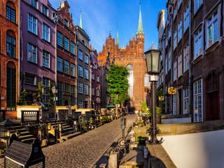 Najświętszej Maryi Panny w ulicy z bazyliki w Gdańsk, Polska.