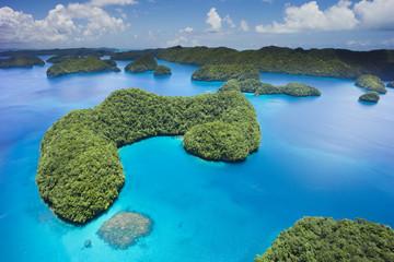 Mikronesien, Palau, Inselgruppe im Meer