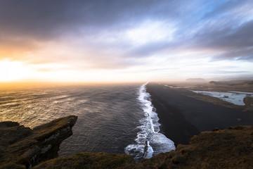Island, Sandstrand in der Nähe von Dyrholaey