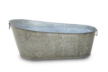Empty metal bathtube