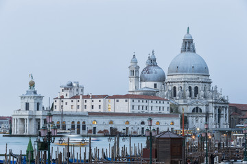 Italien, Venedig, Canale Grande, die Kirche Santa Maria della Salute